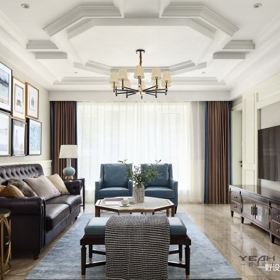191m2 美式风格客厅设计