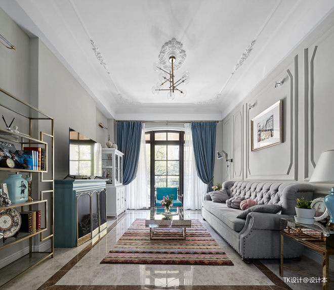 优雅法式客厅设计图片
