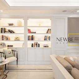 loft风复式客厅书柜设计