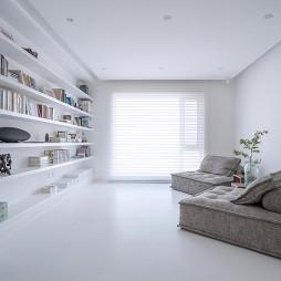 简约洁白客厅设计图