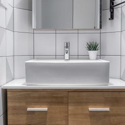 纯白北欧三居洗手台设计图