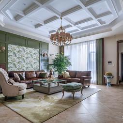 美式风别墅客厅设计图