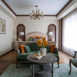 美式风别墅卧室设计图片