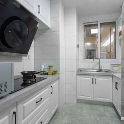 纯色简约厨房设计图