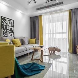 纯色简约客厅设计图片