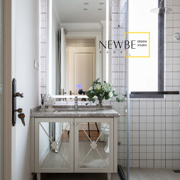 简雅混搭风卫浴洗手台设计