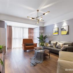 现代三居客厅吊灯设计