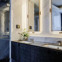 低奢大平层卫浴洗手台设计