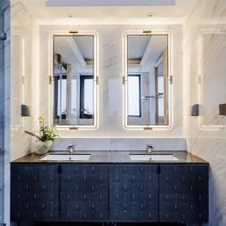 低奢大平层卫浴洗手台设计图片