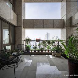 自然现代复式阳台花园设计