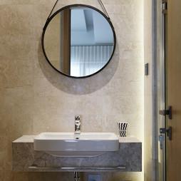 自然现代复式卫浴洗手台设计