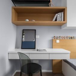 灰度.金陵湾现代儿童房书桌图