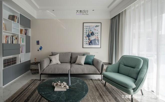 软装改造北欧风客厅沙发图