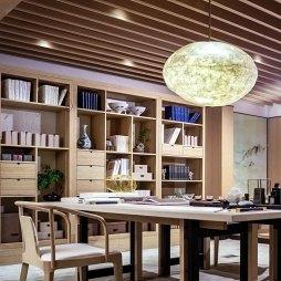 万科翡翠西湖别墅书房设计