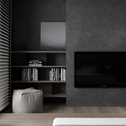 Black Box现代背景墙设计