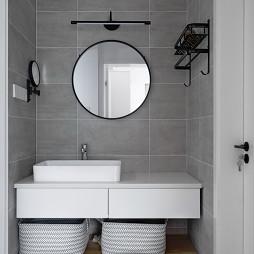 简致混搭卫浴洗手台设计