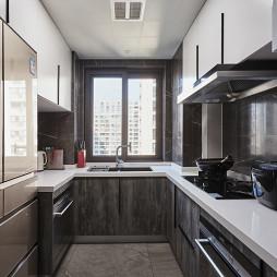 灰色系现代厨房设计图