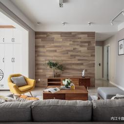 木色系北欧背景墙设计
