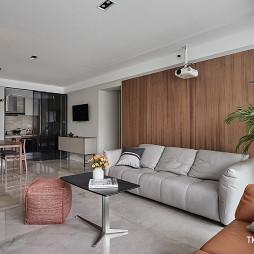 台式简约客厅设计实景图