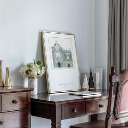高級美式臥室書桌設計