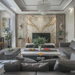 现代奢华客厅设计实景图