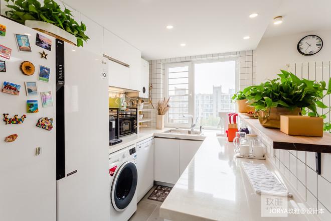 80㎡二层单身公寓厨房设计图