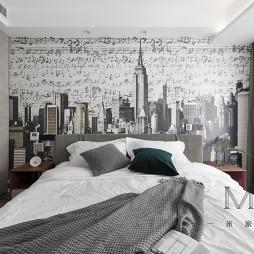 100㎡现代简约主卧室设计图