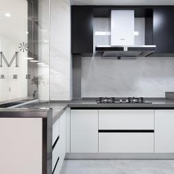 100㎡现代简约厨房设计图