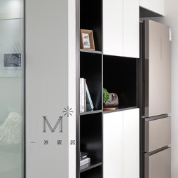 100㎡现代简约厨房储物柜设计