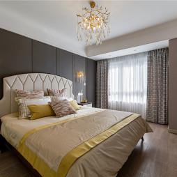 简单轻奢美式卧室设计图