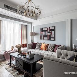 温馨美式客厅沙发图片