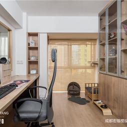 日式风书房设计图片