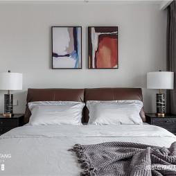 现代主卧室挂画图片