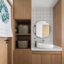 日式混搭卫浴洗手台设计