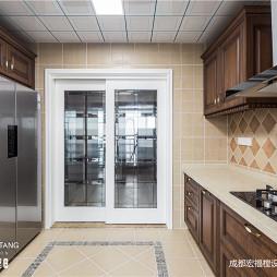 抽象美式厨房设计图