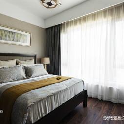 简洁中式卧室设计图