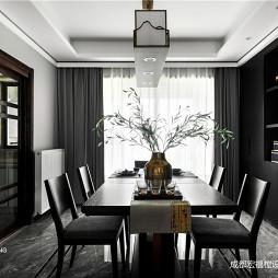 简洁中式餐厅吊灯设计