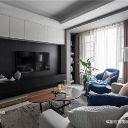 黑白系北欧背景墙设计