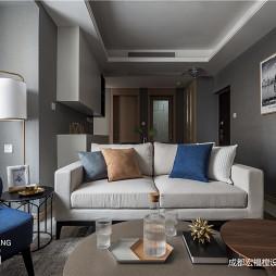 简单北欧客厅沙发设计实景图