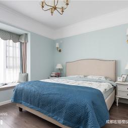 美式主卧室实景图片