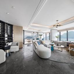 三亚鸿洲天玺顶层豪宅大客厅设计