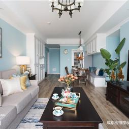 美式二居客厅图片