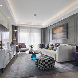 上海古北ONE顶层样板间客厅设计实景