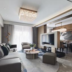 上海古北ONE顶层样板间客厅设计