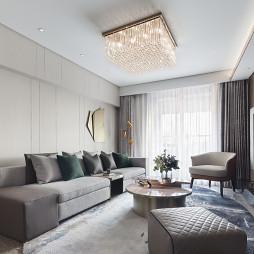 上海古北ONE顶层样板间客厅吊灯设计