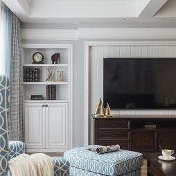 美式復式客廳儲物柜設計
