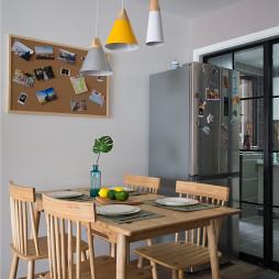 北欧风餐厅吊灯设计实景图