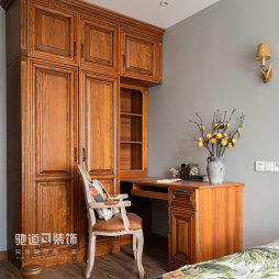 法式风卧室书桌设计图