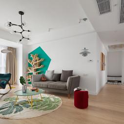 简白北欧客厅吊灯设计