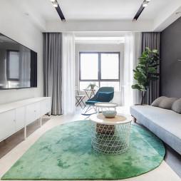 92㎡现代北欧客厅沙发图